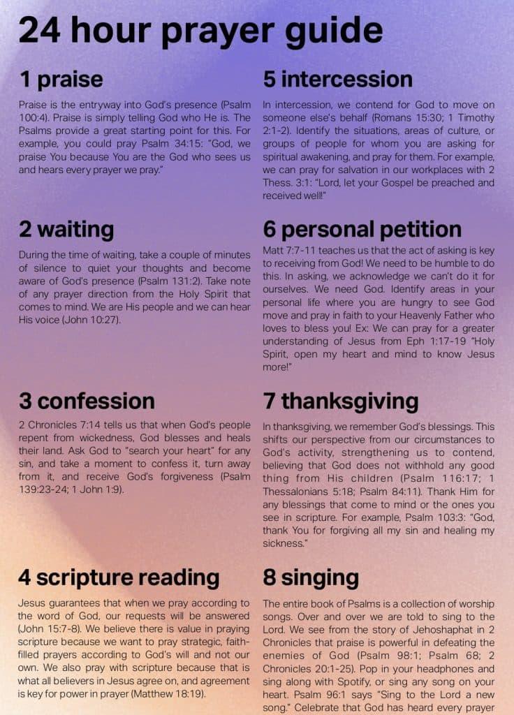 24 hour prayer guide